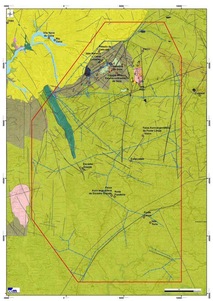 Enquadramento geológico da área de Escádia Grande-Góis