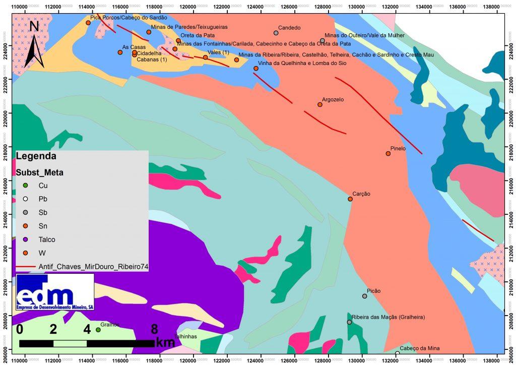 Geologia da área de Argozelo e evolução da forma da concessão desde o período inicial até às prorrogações